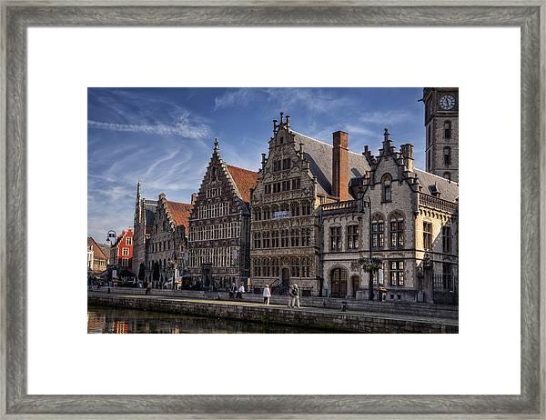 Ghent Guild Houses Framed Print