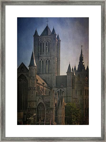 Ghent Skyline Framed Print