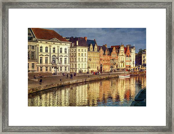 Ghent Waterfront Framed Print