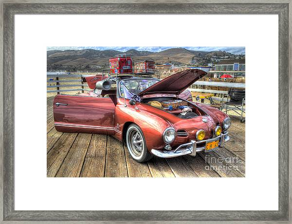 Ghia On Vacation Framed Print