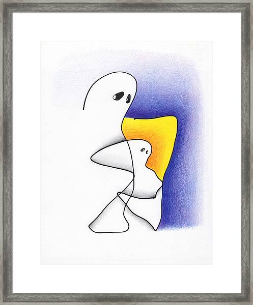 Ghost And Child Framed Print
