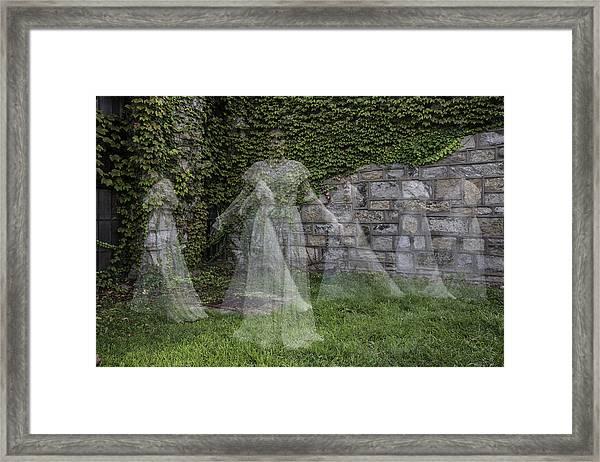 Ghost In The Garden Framed Print
