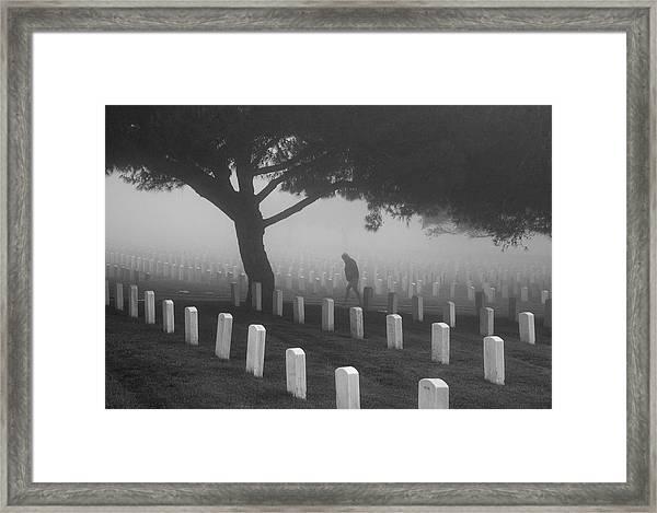 Ghost In The Graveyard Framed Print