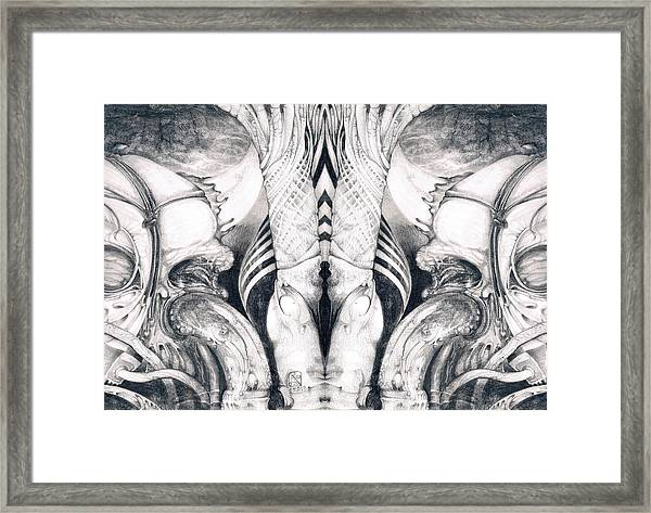 Ghost In The Machine - Detail Mirrored Framed Print
