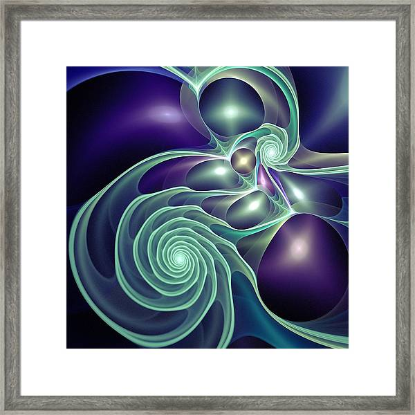 Ghost Lights Framed Print