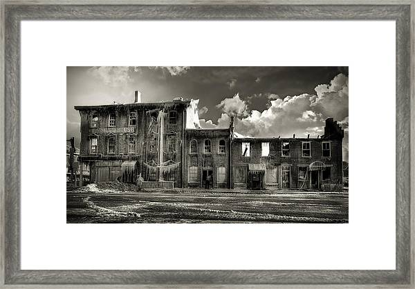 Ghost Of Our Town Framed Print