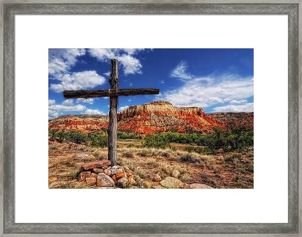 Ghost Ranch Cross Framed Print