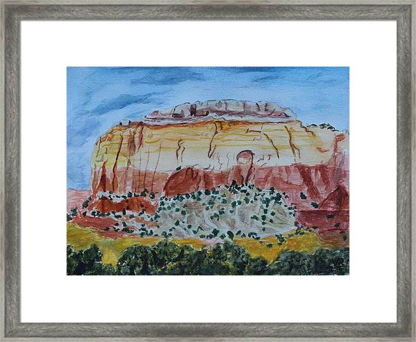 Ghost Ranch Framed Print