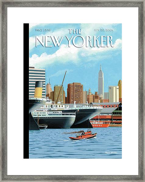 Ghost Ships Framed Print by Bruce McCall