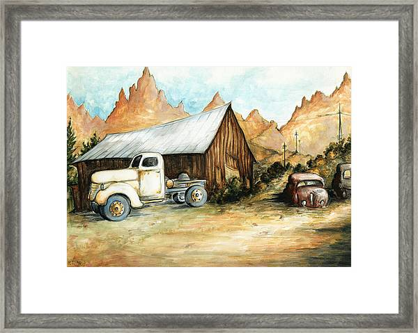Ghost Town Nevada - Western Art Painting Framed Print