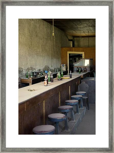 Ghost Town Saloon Framed Print