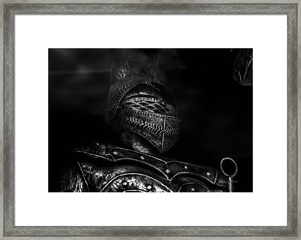 Ghostly Knight Framed Print