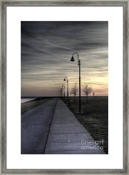 Ghostly Walkway Framed Print