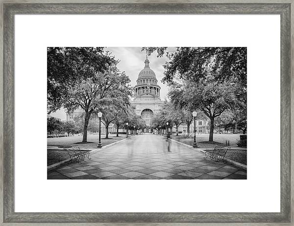 Ghosts Of The Texas State Capitol - Austin Texas Skyline Framed Print