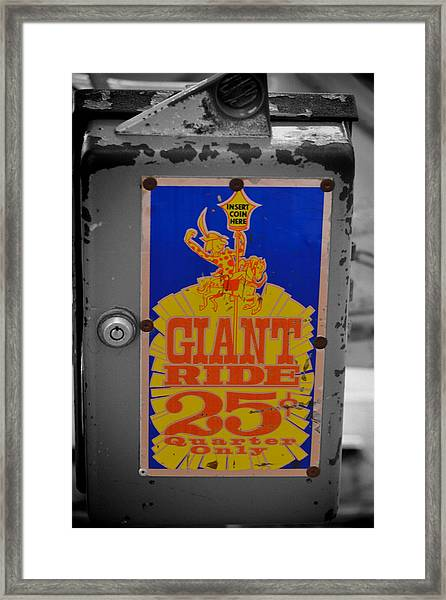Framed Print featuring the photograph Giant Ride 25 by Beth Sawickie