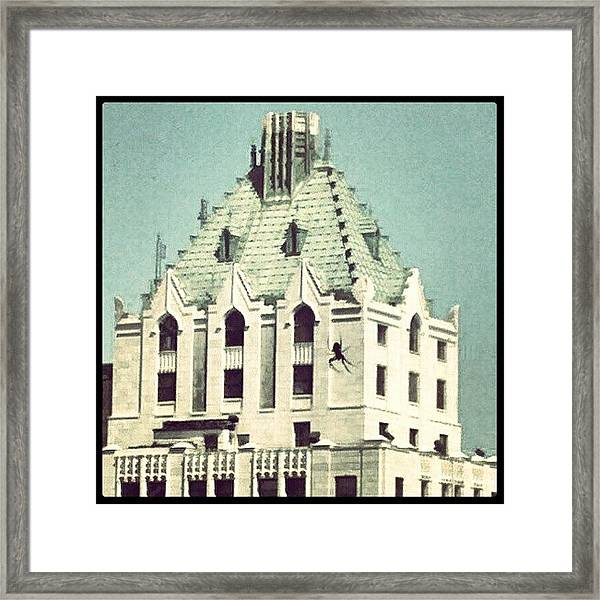 Giant Spider On The Pittsfield Framed Print
