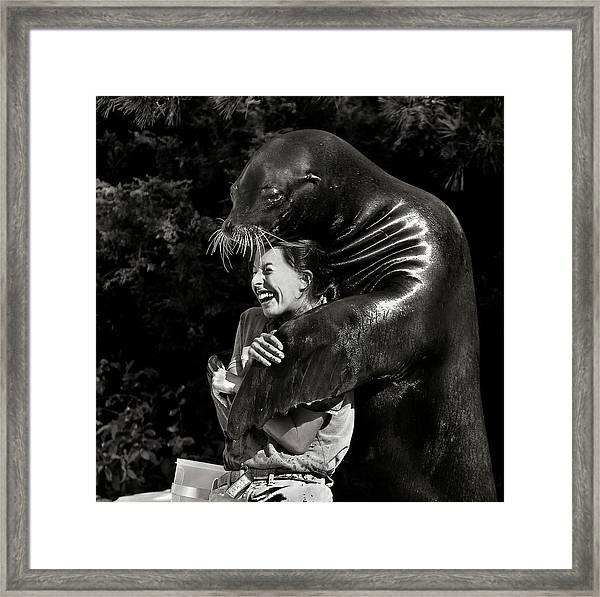 Gimme A Hug Framed Print
