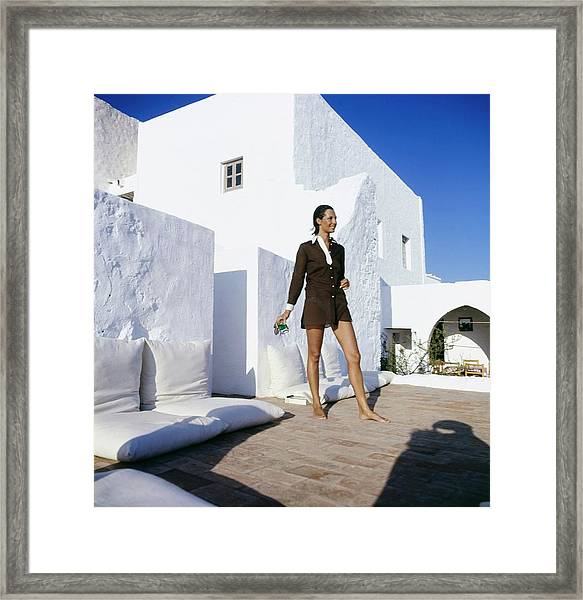 Ginette Camu In Patmos Greece Framed Print