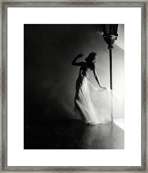 Ginger Rogers Wearing An Evening Gown Framed Print