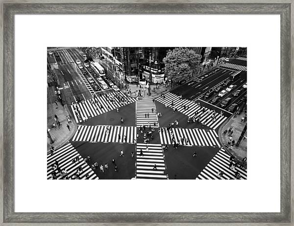 Ginza Framed Print by Shigehiro Ono