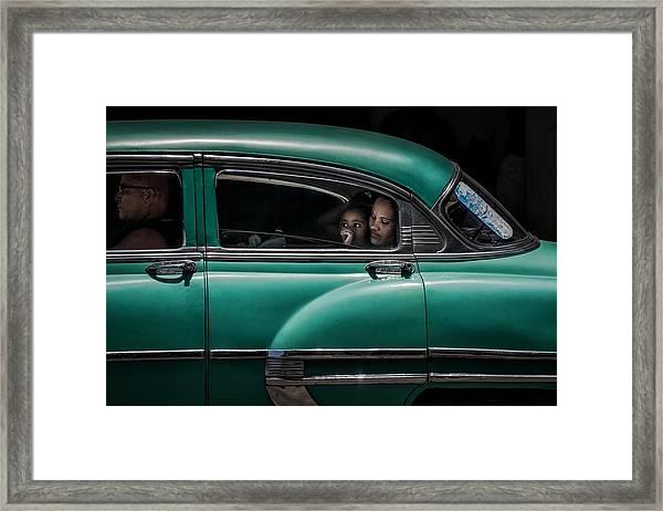 Girl In Green Framed Print by Pavol Stranak