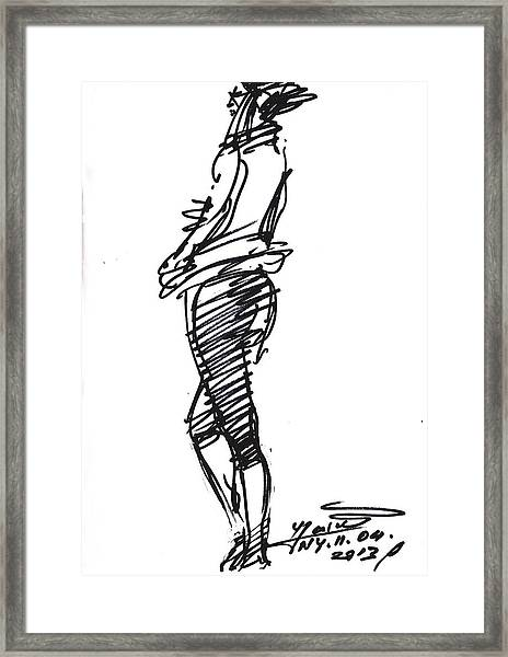Girl Standing Framed Print