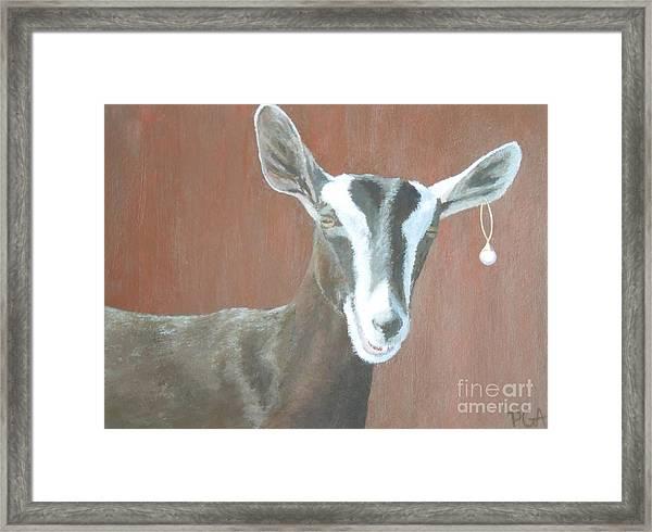 Girl With A Pearl Earring IIi Framed Print