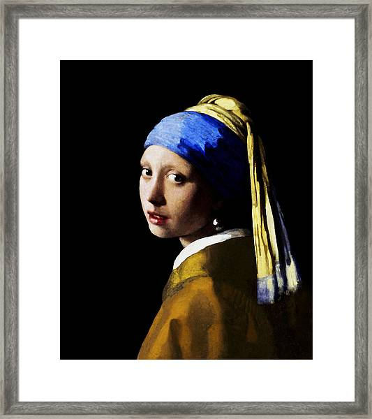 Girl With Pearl Ear Ring Framed Print