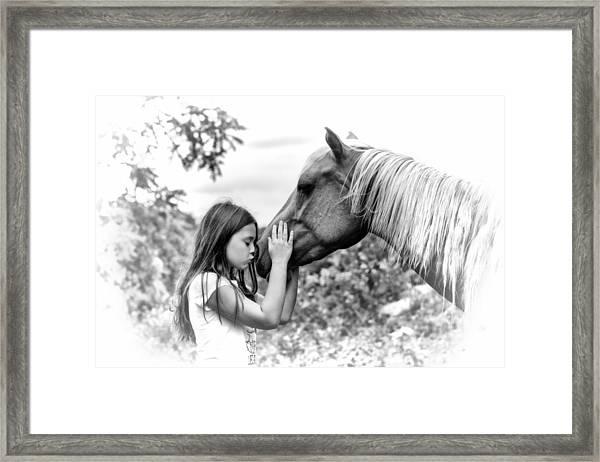 Girls And Their Horses Framed Print
