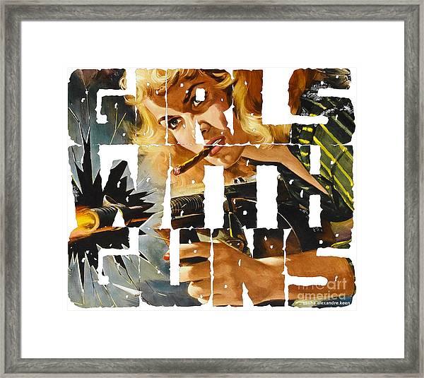 Girls With Guns Logo Framed Print