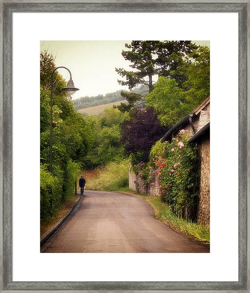 Framed Print featuring the photograph Giverny Country Road by Gigi Ebert