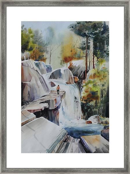 Glacial Quarries Framed Print