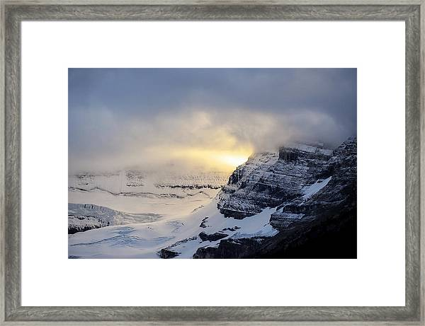 Glacier Above Lake Louise Alberta Canada Framed Print