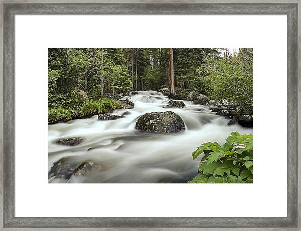 Glacier Creek Framed Print