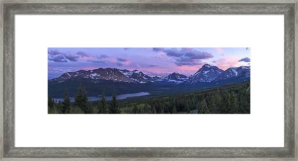 Glacier Glow Framed Print