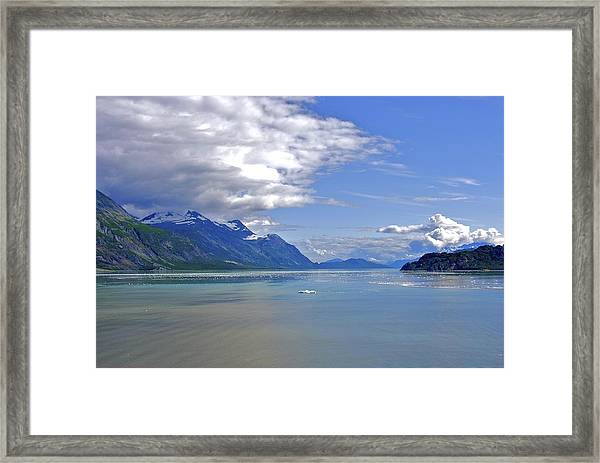 Glacier In Bay  Framed Print