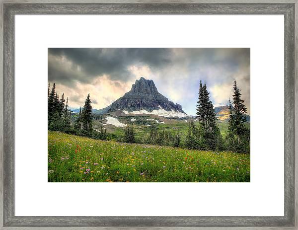 Glacier Meadows Framed Print
