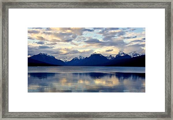 Glacier Morning Framed Print