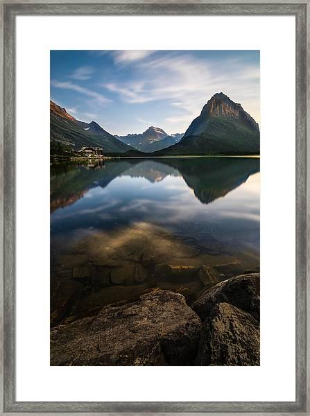 Glacier National Park 2 Framed Print by Larry Marshall