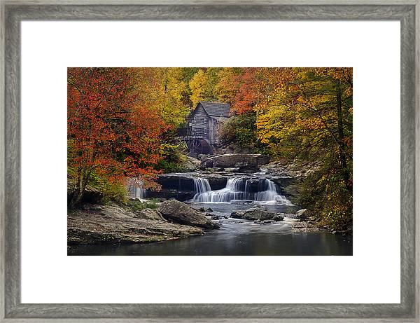 Glade Creek Grist Mill 2 Framed Print by Michael Donahue
