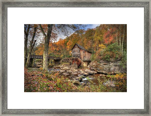 Glade Creek Gristmill Framed Print