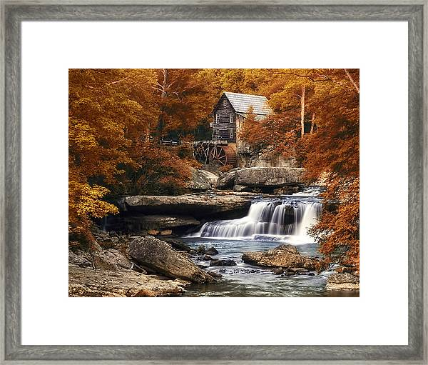 Glade Creek Mill In Autumn Framed Print