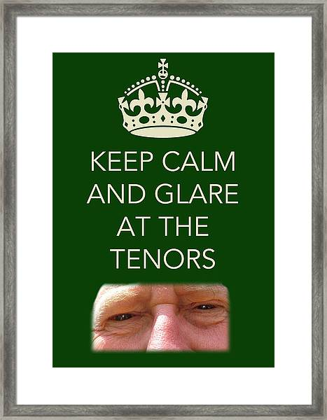 Glare At The Tenors Framed Print
