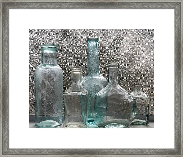 Glass Bottles 1 Framed Print
