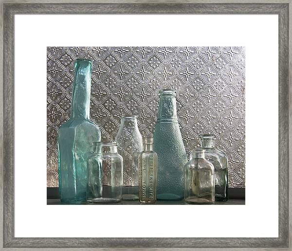 Glass Bottles 2 Framed Print