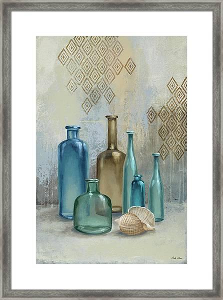 Glass Bottles II Framed Print