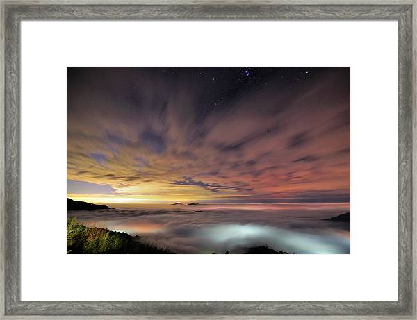 Glass Clouds Framed Print