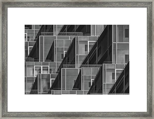 Glass Cubes Framed Print by Luc Vangindertael (lagrange)