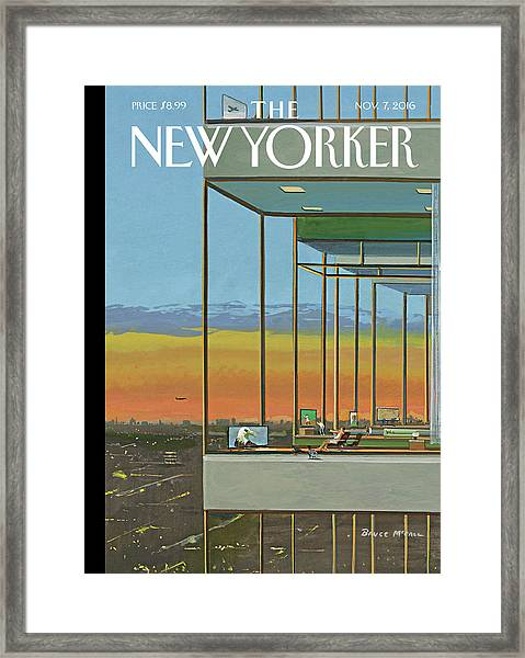 Glass Houses Framed Print by Bruce McCall