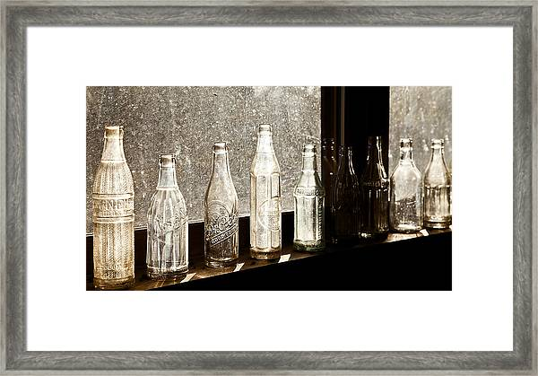Glass In The Window  2 Framed Print